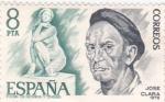 Sellos de Europa - España -  José Clará -escultor   (A)