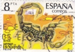 Stamps Spain -  Buthus  Europaeus    (A)