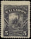 Stamps of the world : El Salvador :  Desembarco de Colón.