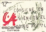 Stamps Spain -  Vicente Alise 1898-1984     (A)