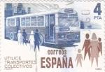 Stamps Spain -  utilice transportes colectivos    (A)