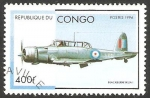 Stamps : Africa : Republic_of_the_Congo :  Avión blackburn skua