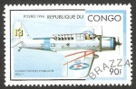 Stamps Republic of the Congo -  Avión vought sikorsky vindicator