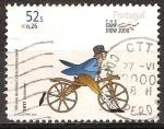 Sellos de Europa - Portugal -  100a de la Unión Ciclista Internacional.