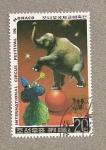 Stamps Asia - North Korea -  Festival Internacional de Circo de Mónaco