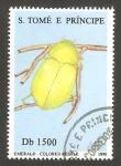 Stamps : Africa : São_Tomé_and_Príncipe :  1264 DQ - coleóptero verde esmeralda