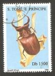 Sellos de Africa - Santo Tomé y Principe -  1264 DS - coleóptero marrón de grandes mandíbulas