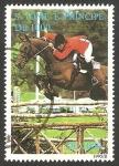 Stamps : Africa : São_Tomé_and_Príncipe :  1251 - Caballos, saltos de obstáculos