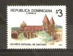 Stamps Dominican Republic -  CATEDRAL   DE   SANTIAGO