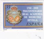 Sellos de Europa - España -  1700-2000 Tricentenario real academia de medicina  Sevilla (A)