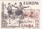 Stamps Spain -  Baile popular-La jota    (A)