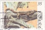 Sellos de Europa - España -  fauna española en peligro de extinción-lagarto gigante de el Hierro    (A)