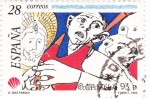 Stamps Spain -  Compostela-93   (A)