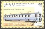 Sellos de Africa - Marruecos -  Locomotora automotor diesel eléctrico