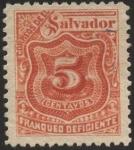 Stamps America - El Salvador -  Timbre impuesto 1896.