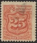Sellos de America - El Salvador -  Timbre impuesto 1896.