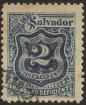 Stamps America - El Salvador -  Timbre impuesto 1897.