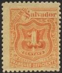 Sellos de America - El Salvador -  Timbre impuesto 1899.