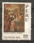 Stamps Peru -  ADORACIÒN   DE   LOS   REYES