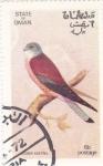 Stamps Oman -  Lesser Kestrel
