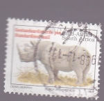 Stamps : Africa : South_Africa :  Rinoceronte blanco