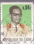 Sellos de Africa - República Democrática del Congo -  Presidente de Zaire Mobutu Sese Seko