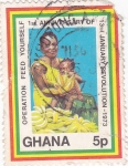 Sellos de Africa - Ghana -  1º aniversario de la revolución-1973
