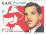 Stamps Nicaragua -  XXVI Aniv.del Principio del Fin de la Dictadura-Rigobertp López Pérez