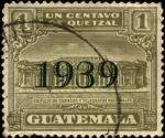 Sellos del Mundo : America : Guatemala : Edificio de correos y telégrafos nacionales. 1925 sobreimpreso