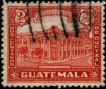 Sellos de America - Guatemala -  Edificio de la tipografía nacional.