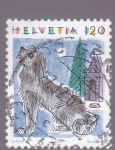 Stamps Switzerland -  dibujo de un perro