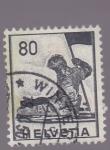Sellos de Europa - Suiza -  figura