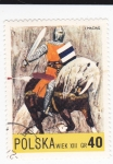 Stamps Poland -  caballero medieval