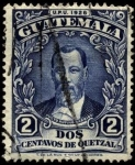 Sellos de America - Guatemala -  Presidente Justo Rufino Barrios. UPU 1926.