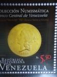 Sellos de America - Venezuela -  Colección Numismática Bco.de Venezuela.Emisión Filatélica conmemorativa Año del Oro (3de6)