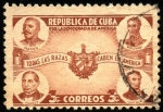 Stamps America - Cuba -  Por la democracia de América. Maceo, Bolívar, Juarez, Lincoln.
