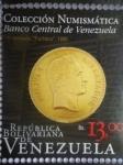 Sellos de America - Venezuela -  Colección Nunismática Bco. de Venezuela.Emisión Filatélica conmemorativa Año del Oro (1de6)