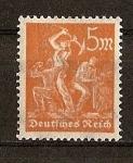 Stamps Germany -  Republica de Weimar / Mineros.