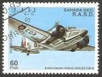 Stamps Morocco -  Avión bimotor Oxford Inglés de 1943