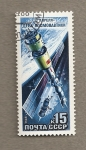 Stamps Russia -  12 mision cosmonautas