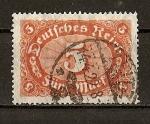 Stamps Germany -  Republica de Weimar.