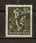 Stamps Germany -  Republica de Weimar./ Mineros.