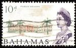 Stamps America - Bahamas -  Plaza pública.