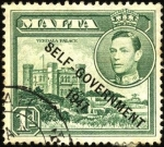 Stamps Europe - Malta -  Georges VI, palacio Verdalas.  sobreimpreso 1947