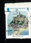 Sellos del Mundo : Europa : Isla_de_Jersey : Le mont Saint Michel - France