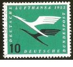 Sellos de Europa - Alemania -  LUFTHANSA - DEUTSCHE BUNDESPOST