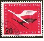 Stamps Germany -  LUFTHANSA - DEUTSCHE BUNDESPOST