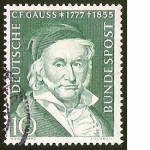 sellos de Europa - Alemania -  C.F. GAUSS (1777 - 1855) - DEUTSCHE BUNDESPOST