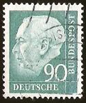 Stamps Germany -  PROF. HEUSS KLEINFORMAT - DEUTSCHE BUNDESPOST