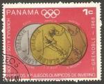 Stamps Panama -  475 - Olimpiadas de Invierno en Genoble 1968